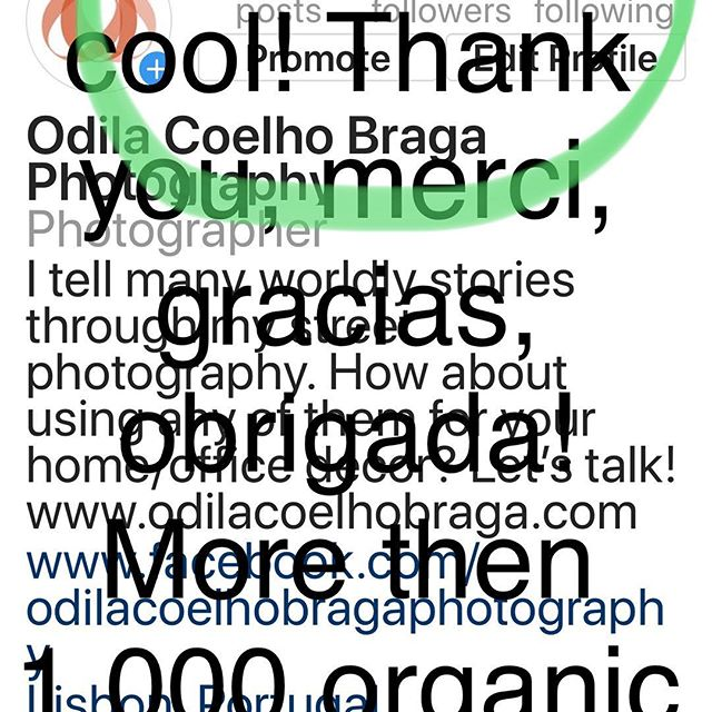 Thankful to y'all! 1,000 + organic followers, yeahyyyy!