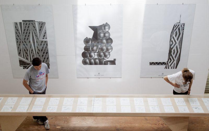 "Traveling Exhibition: Neil Denari, ""Displaced Buildings in Aperiodic City""<br><br><br><br>"