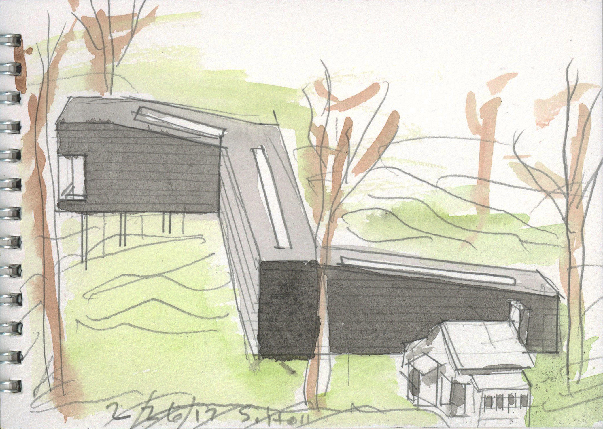 Steven Holl's design sketch