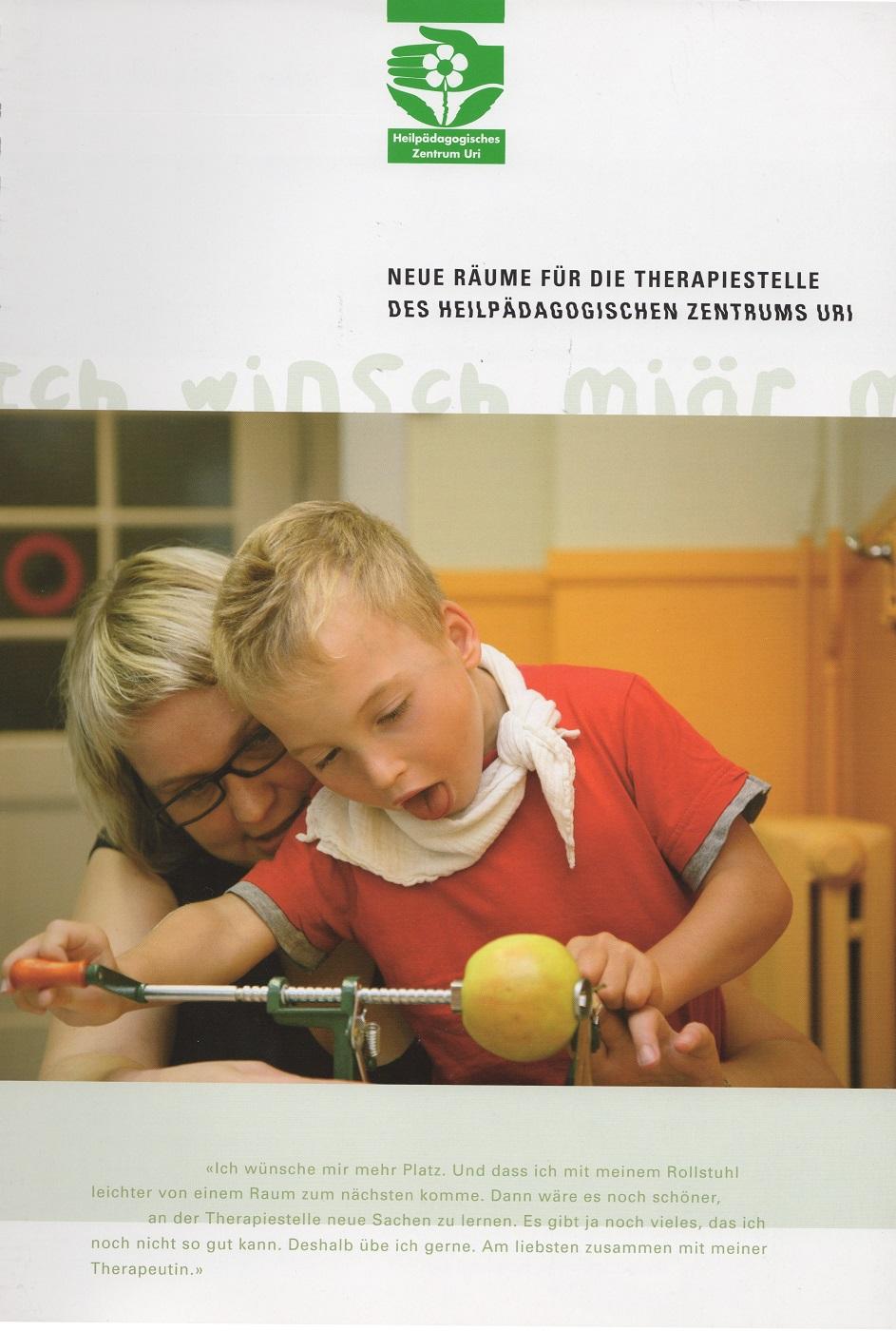 Heilpädagogisches Zentrum Uri - Pro Jahr werden mehr als 600 Kinder und Jugendliche im Heilpädagogischen Zentrum Uri betreut. Kompetente Förderung und ganzheitliche Betreuung sorgen dafür, dass wieder unbeschwerte Momente im Leben von Kindern in schwierigen Lebenssituationen möglich sind. Nie hat eine soziale Institution im Kanton Uri eine grössere Summe gesammelt, als im Zuge der notwendig gewordenen baulichen Anpassungen.Das Spendenziel lag bei 6.4 Millionen Franken, wir sammelten 8 Millionen Franken.