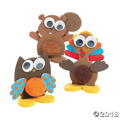 Fun Express Pom-Pom Fall Woodland Animals Craft Kit