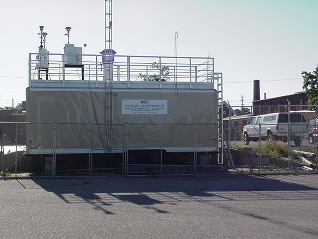 The Grand Rapids, MI, air quality monitoring station