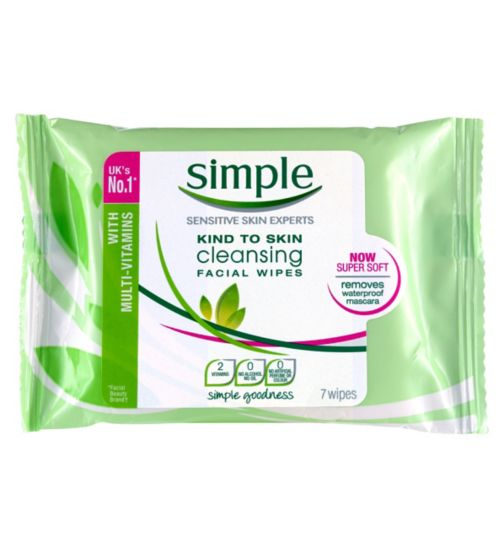 2. Simple 'sensitive skin' facial wipes wipes