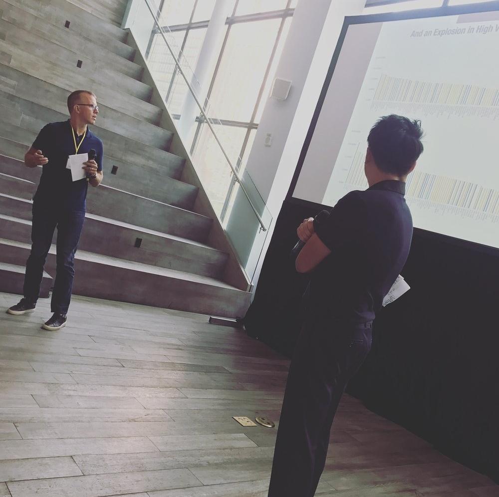 Brad Svrluga (left, General Partner, Primary Venture Partners) and Ben Sun (right, General Partner, Primary Venture Partners)