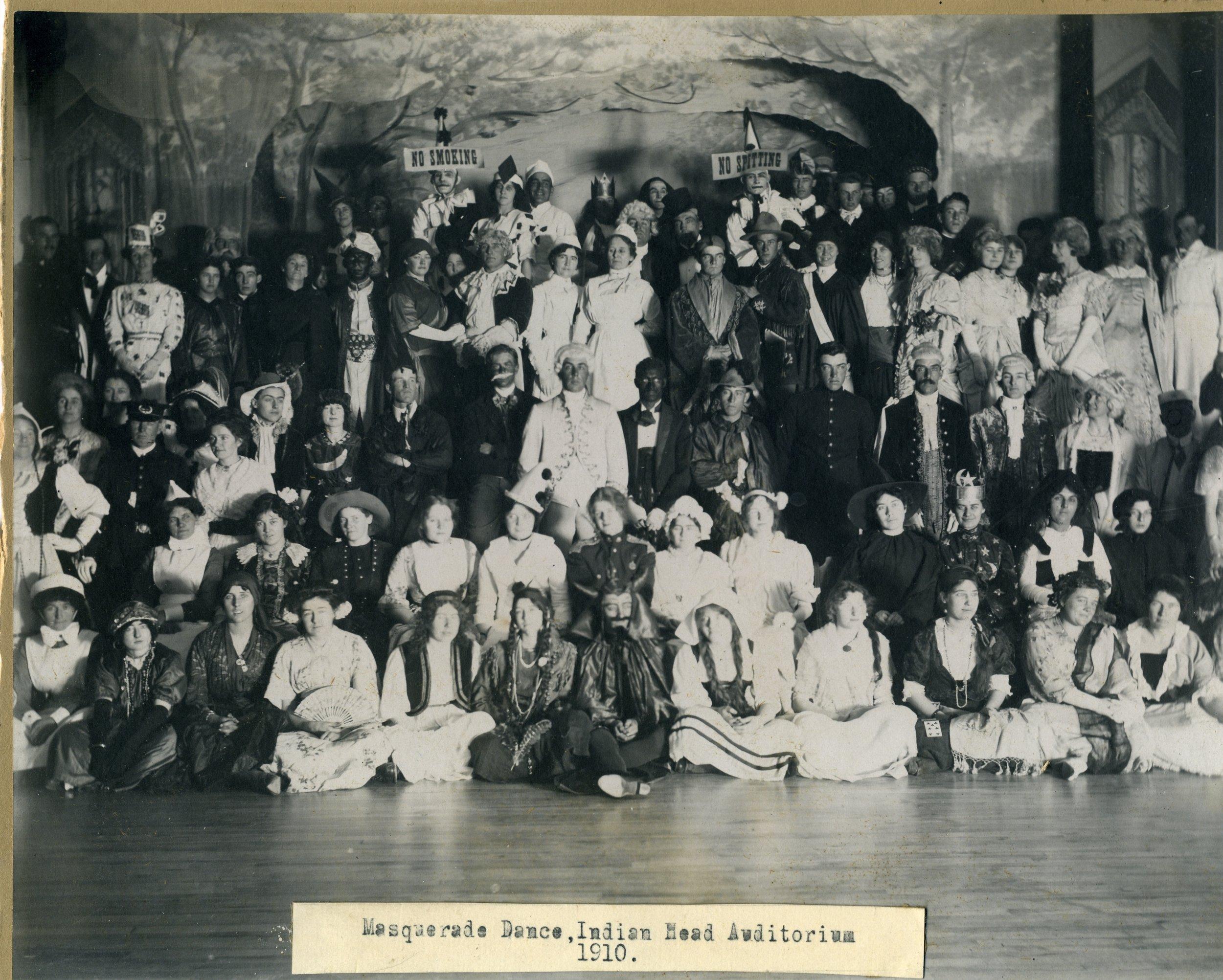 Masquerade Dance  - Indian Head Auditorium 1910.jpg