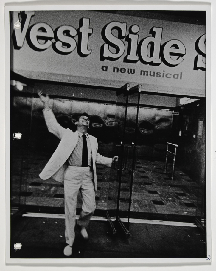Leonard Bernstein outside the National Theatre in Washington, DC. Robert H. Phillips, photographer.  Leonard Bernstein Collection,   Music Division  , Library of Congress (27) Courtesy of the estate of the photographer