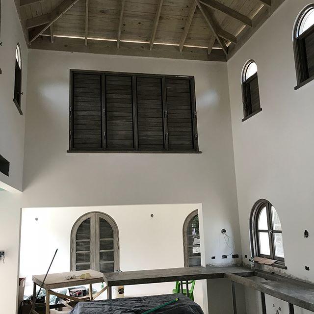 Almost there. Private Villa, St Ann. #jamaicanarchitecture #jamaicaengineering #buildingjamaica