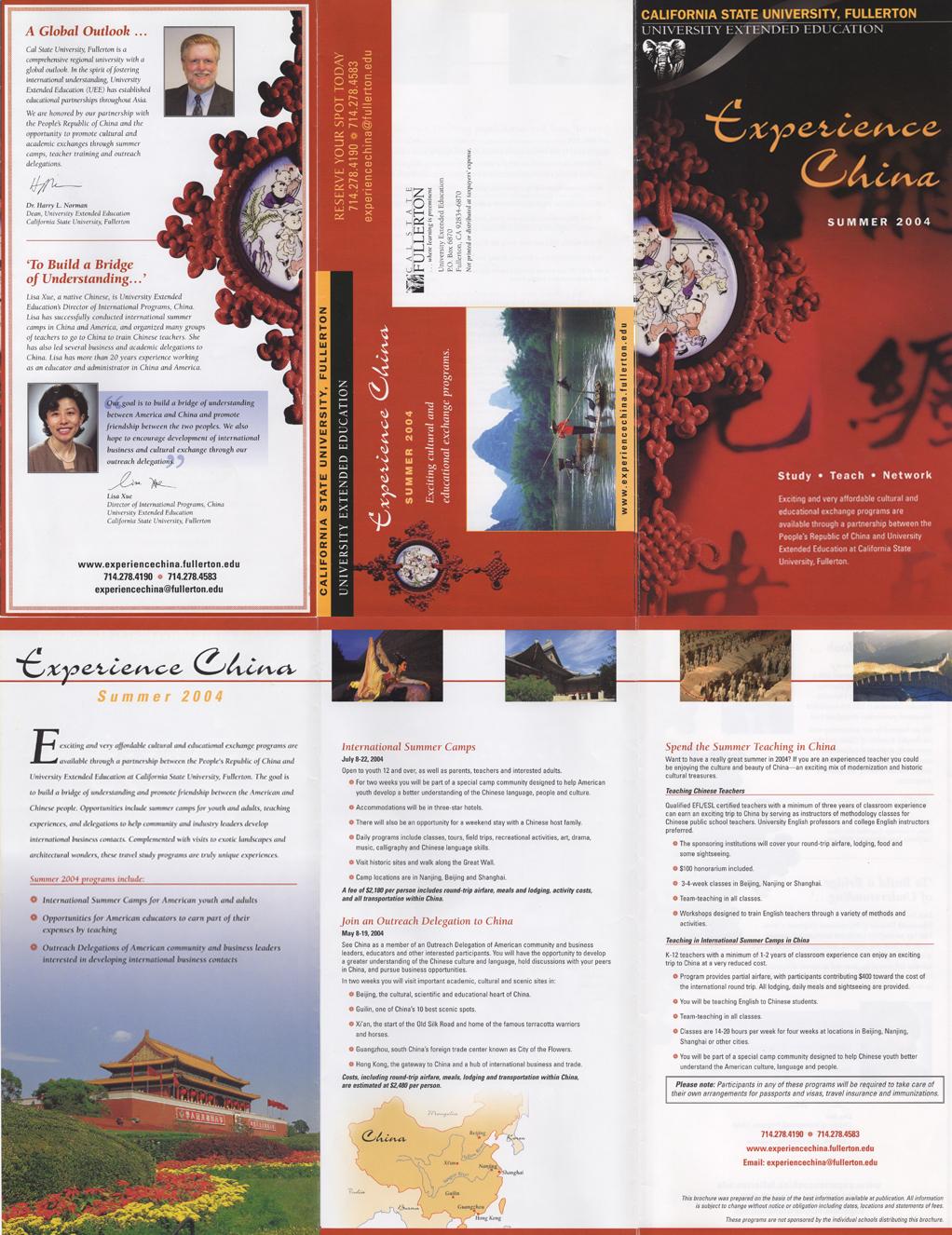 Experience China brochure