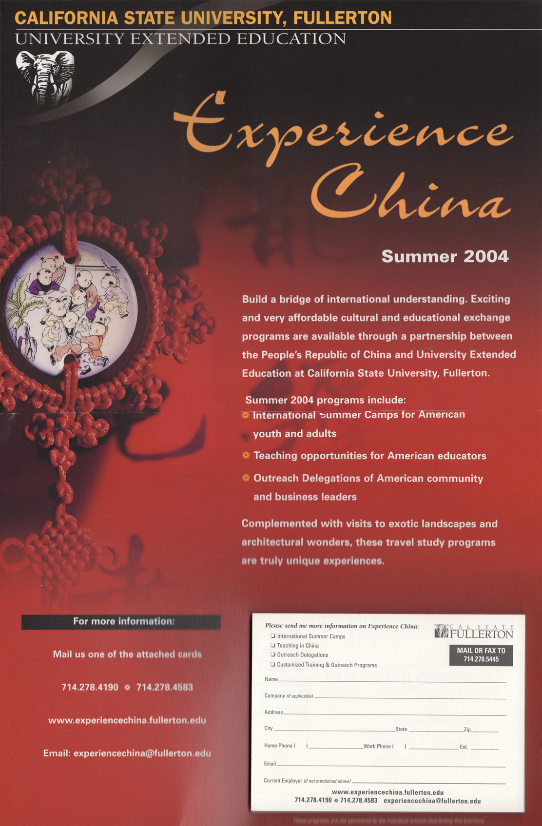 Experience China Poster