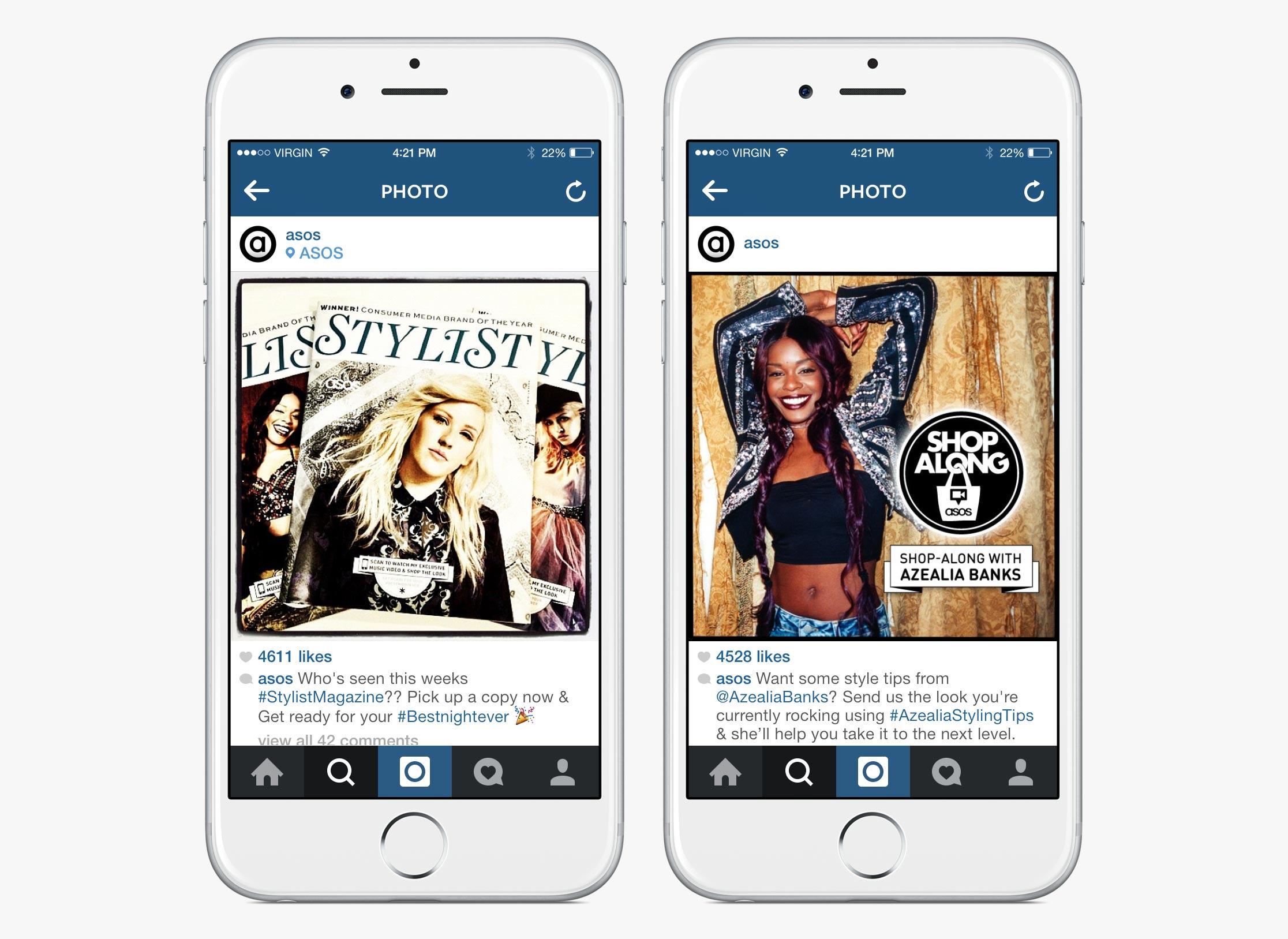 ASOS Instagram content