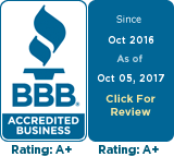 Better Business Bureau Icon with link to our page