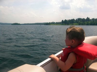 Nick, jr. out for a boat ride on Lake Winnipesaukee 2013