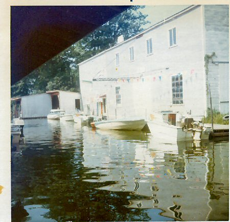 Our lakeside shop and parts room circa 1972