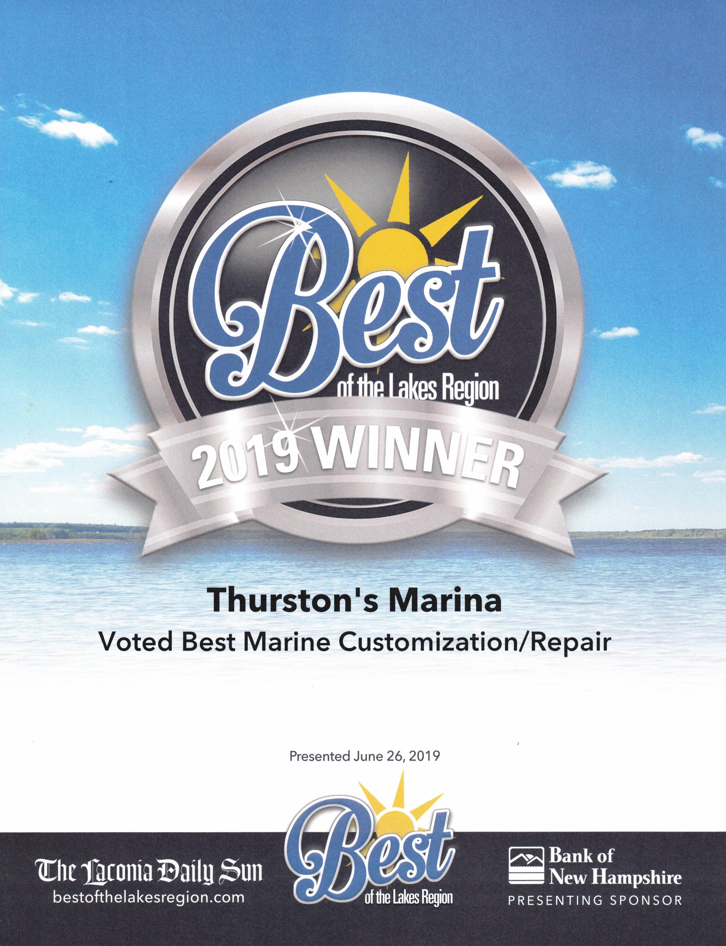 Best of Lakes Region Marine Customization Repair Silver Certificate.jpg