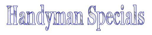 Handyman Specials section on Preowned inventory