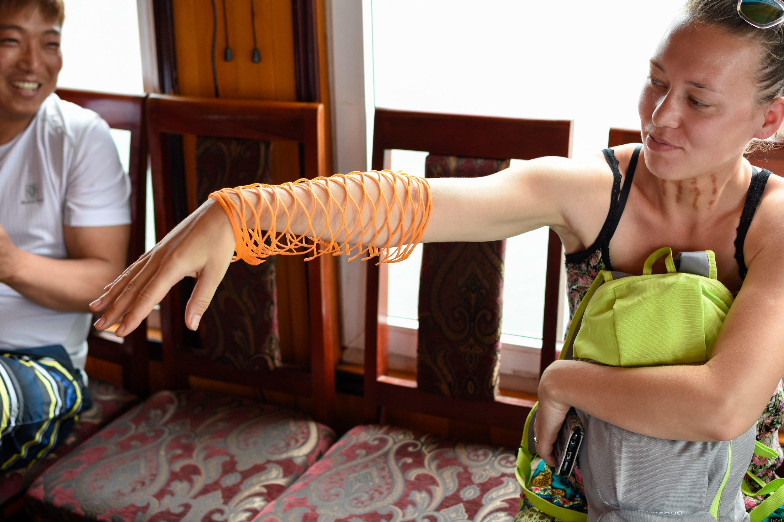 Carrot fish wrap