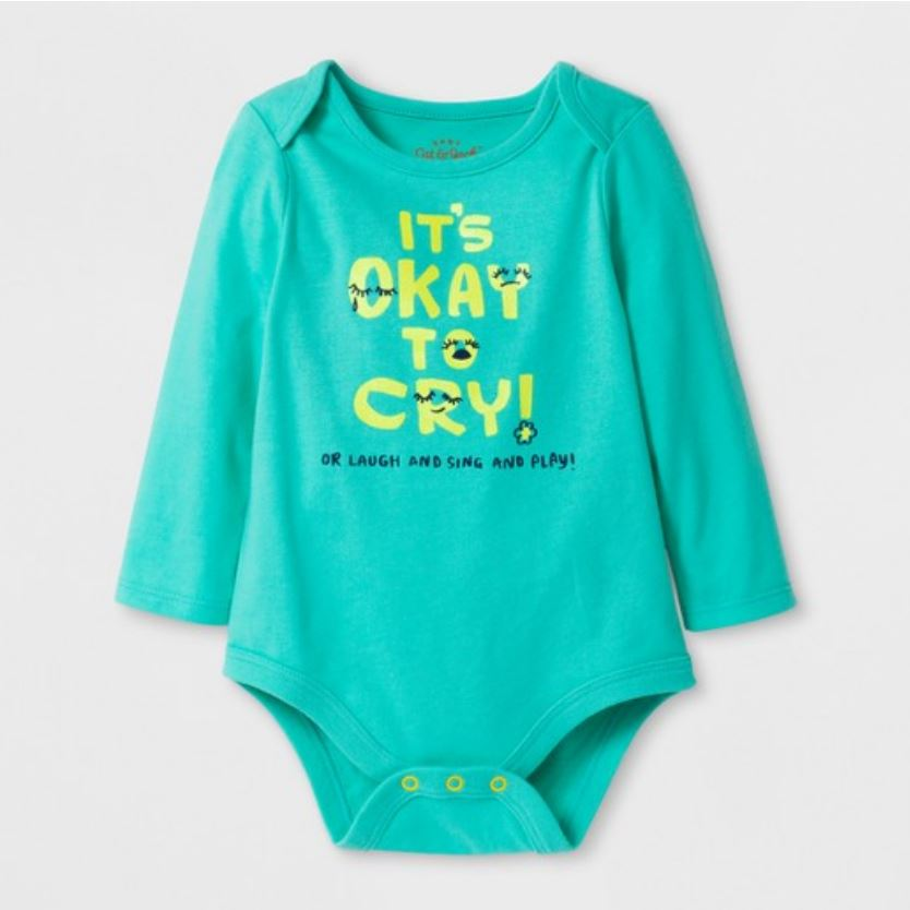 - My daughter and I were at Target and when she saw this onesie on the rack she said,