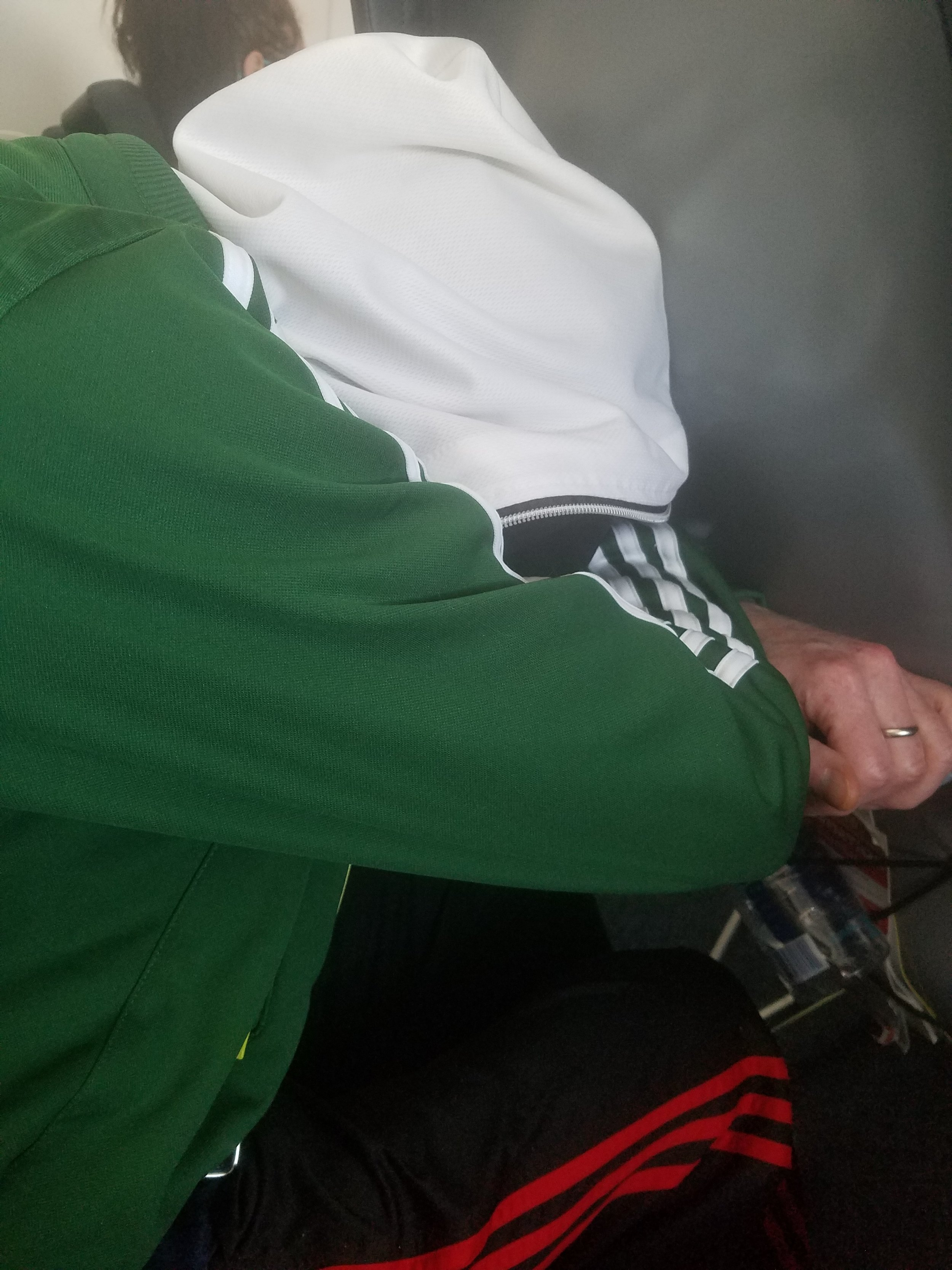 - You may see the young man taking a nap for the duration of the flight.What you can't know is that the energy it took to get from the doors of the airport an hour ago to this seat were more than he has in his reserves and that he is now completely depleted.