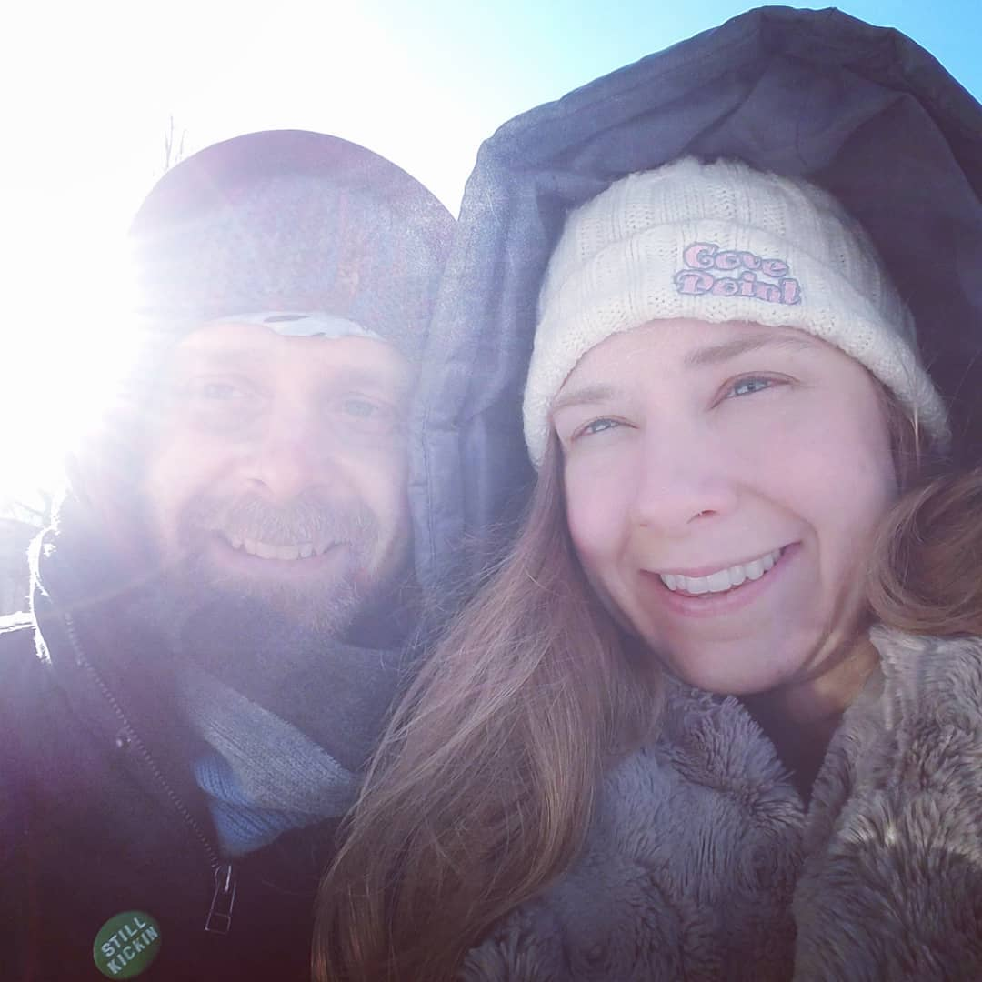 "- ""Radiation 2/35 was followed by a lovely walk in the 'warm' Minnesota temps. Taking advantage of this moment pre-snowstorm and pre-radiation induced side effects."""