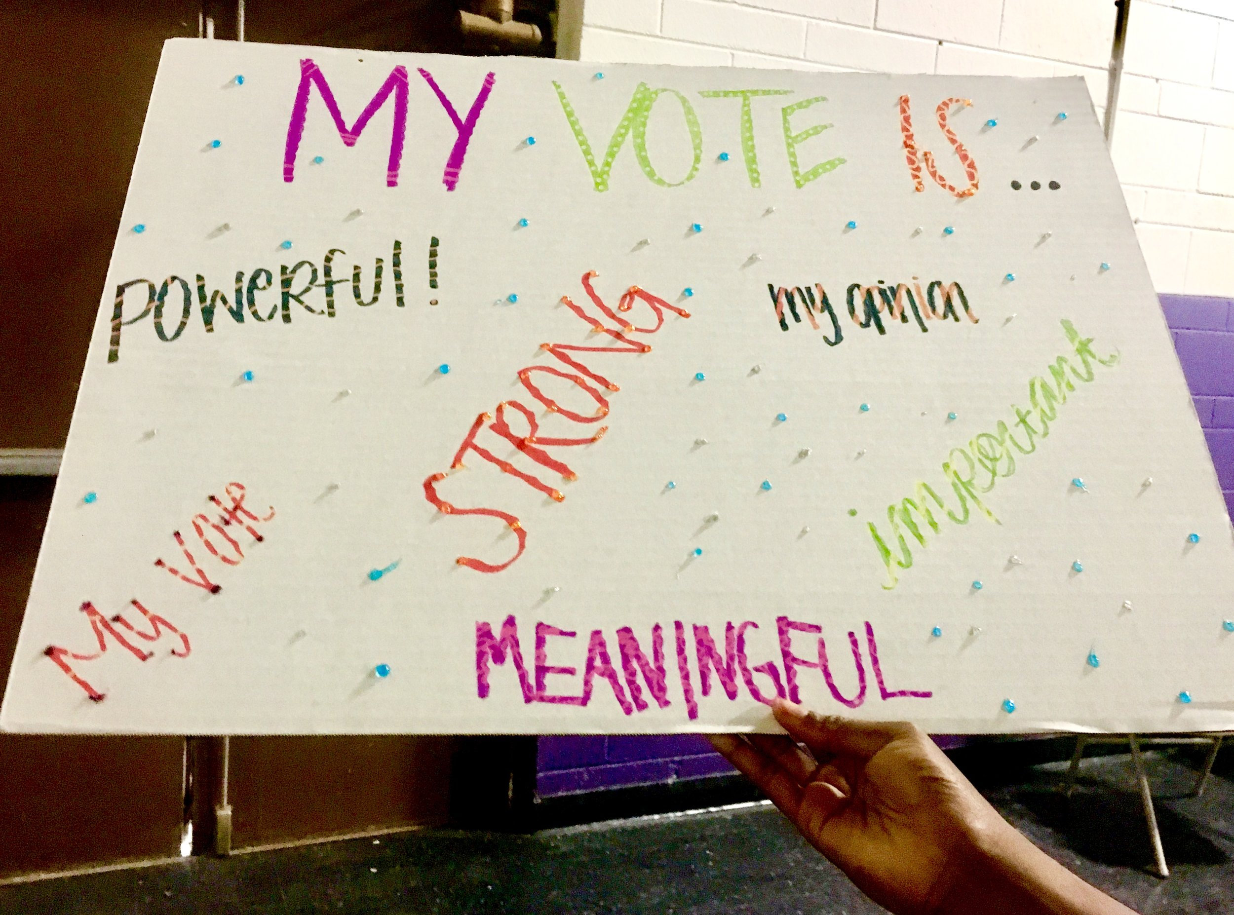 Photo from our voter registration #artattack at Juvenile Facilities in LA County