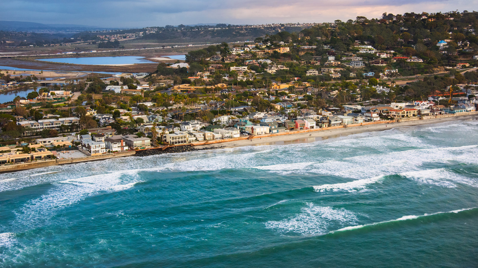 "The city of Del Mar, Calif., located about 20 miles north of downtown San Diego, has voted against a formal policy of ""managed retreat"" from rising seas. Art Wager/Getty Images"