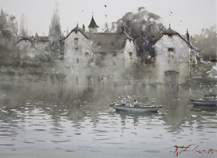 Joseph Zbukvic painting using Joseph Z's Warm Grey