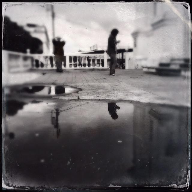 Blessed Salt Mirror | rainwater reflection in Santo Domingo Xenacoj, Guatemala | October 2014