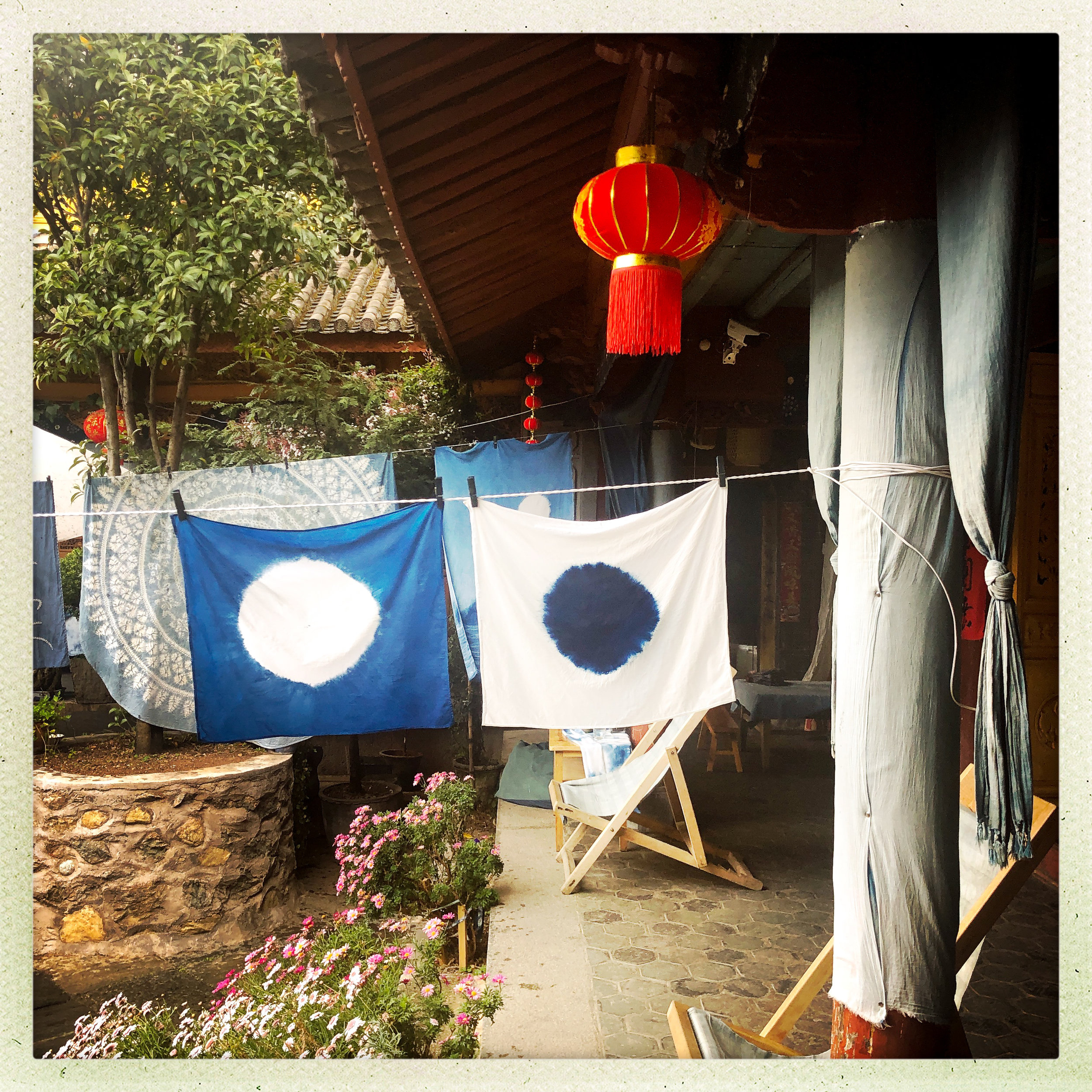 My Sun, and My Moon hanging in the courtyard at Lanxu