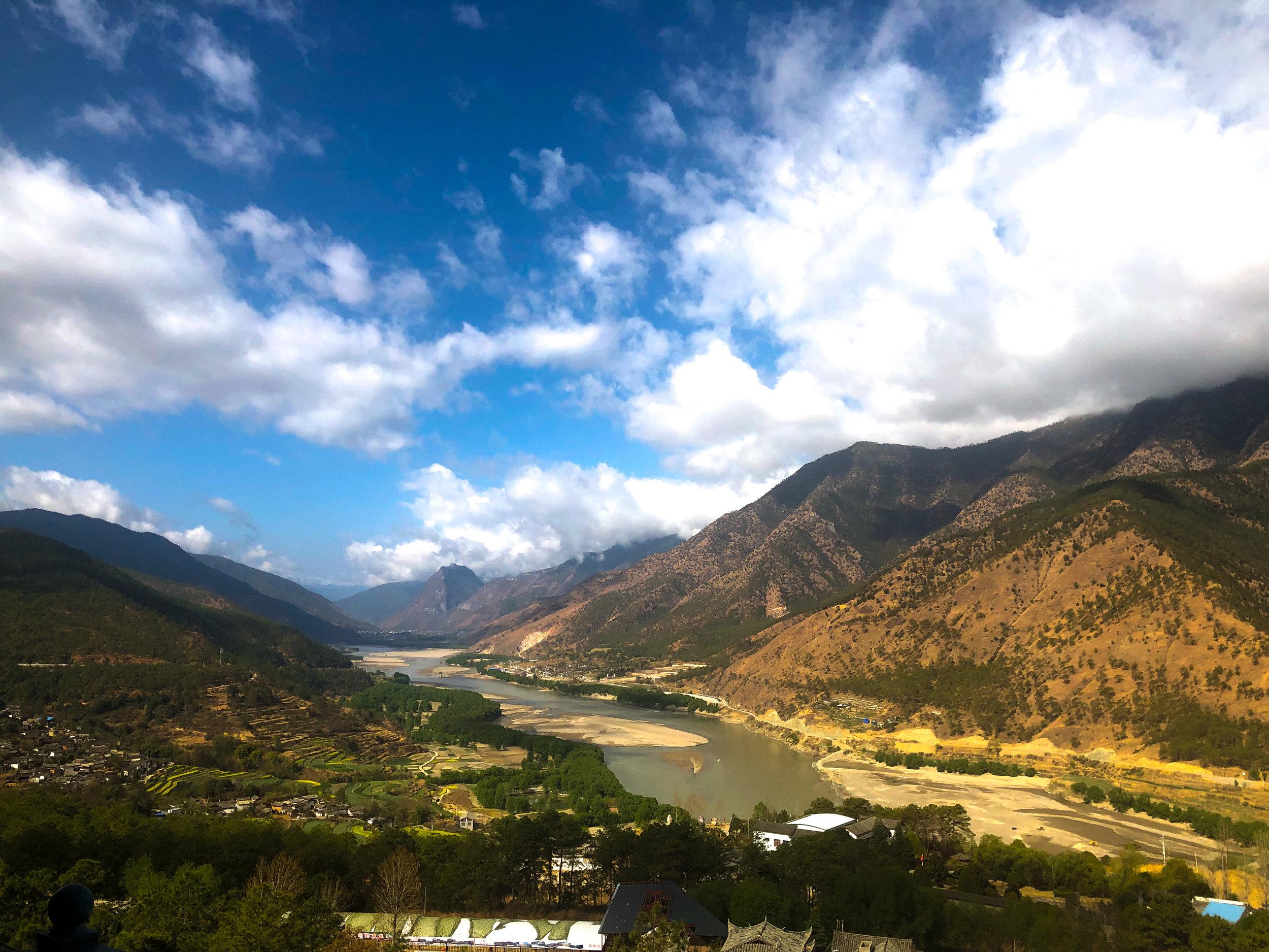 The San Gui Shui Scenic Overlook on the way to Shangri-La, Tibet