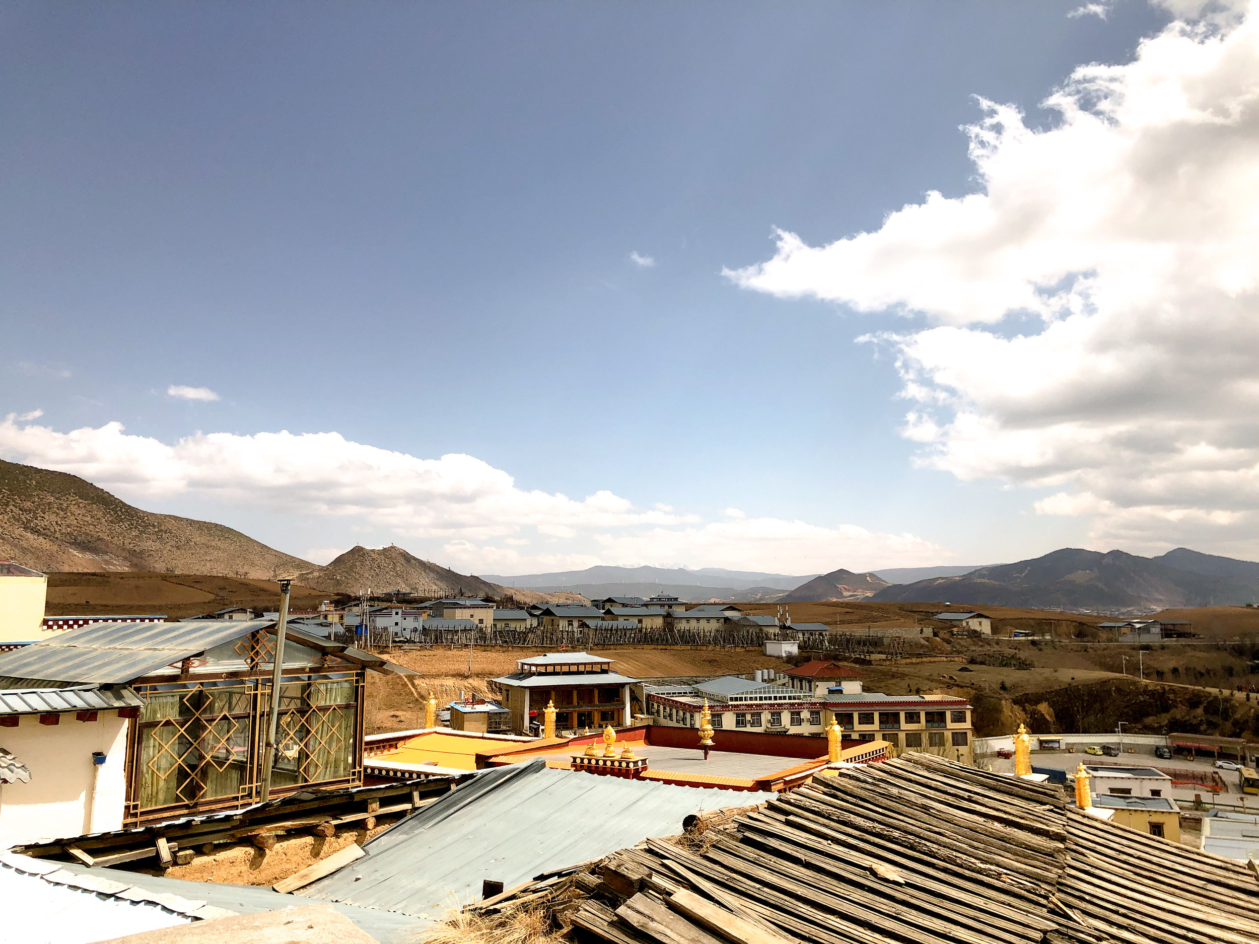 View from the top of the stairs at Songzanlin Monastery