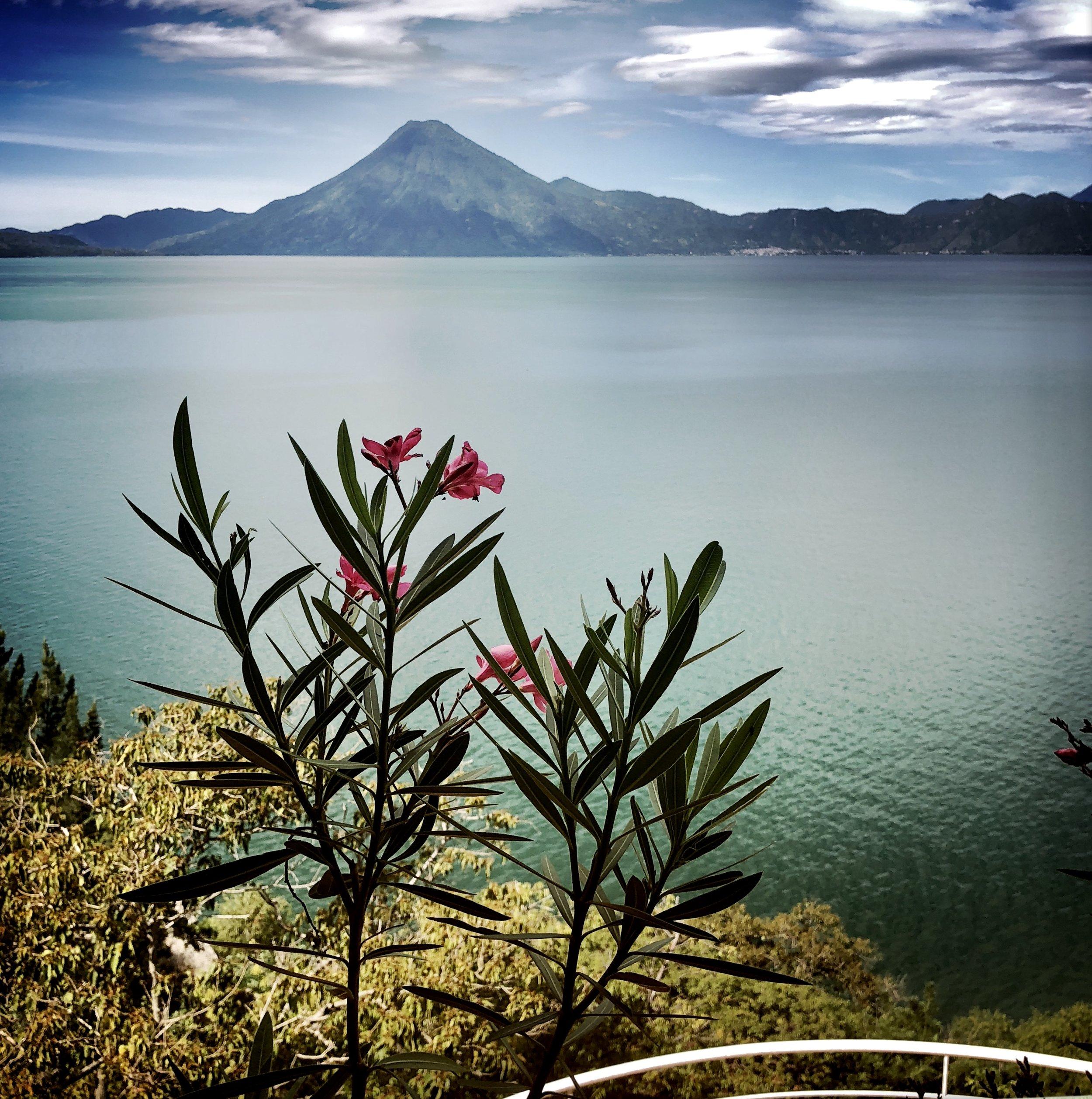 Volcano views from the SOLUNA Villa at B ' Alam Ya