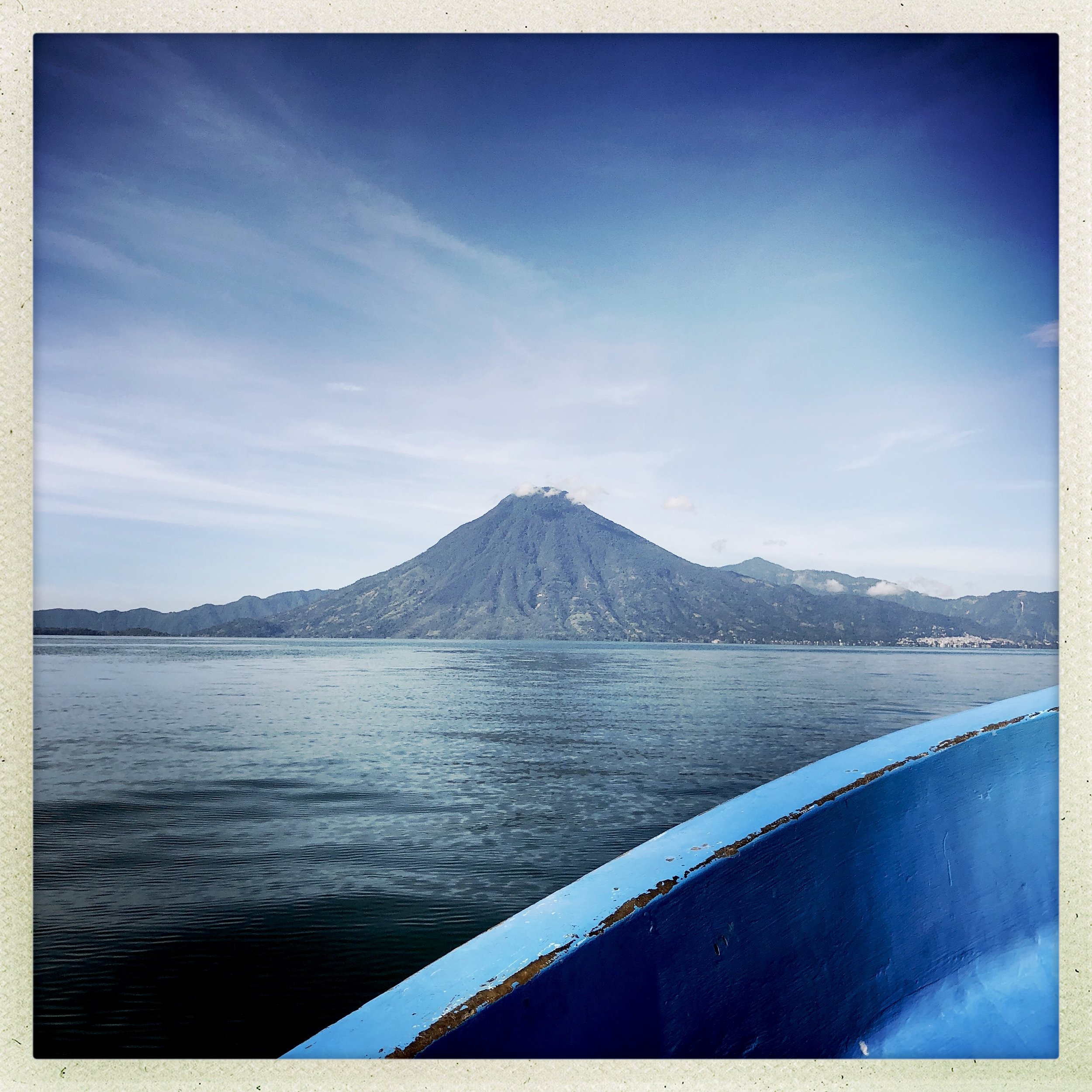 View from my lancha ferry, enroute to San Juan la Laguna