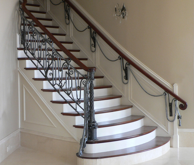 STAIRCASE RAILING CHARCOAL METALIC FINISH