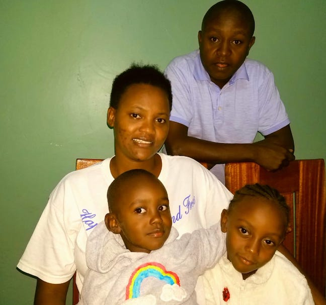 Hellen with her husband, son, and daughter