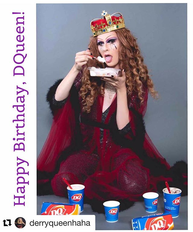 HBD to our delightful regular guest this last season, @derryqueenhaha! So glad we know the delightful YOU! #happybirthday #derryqueen