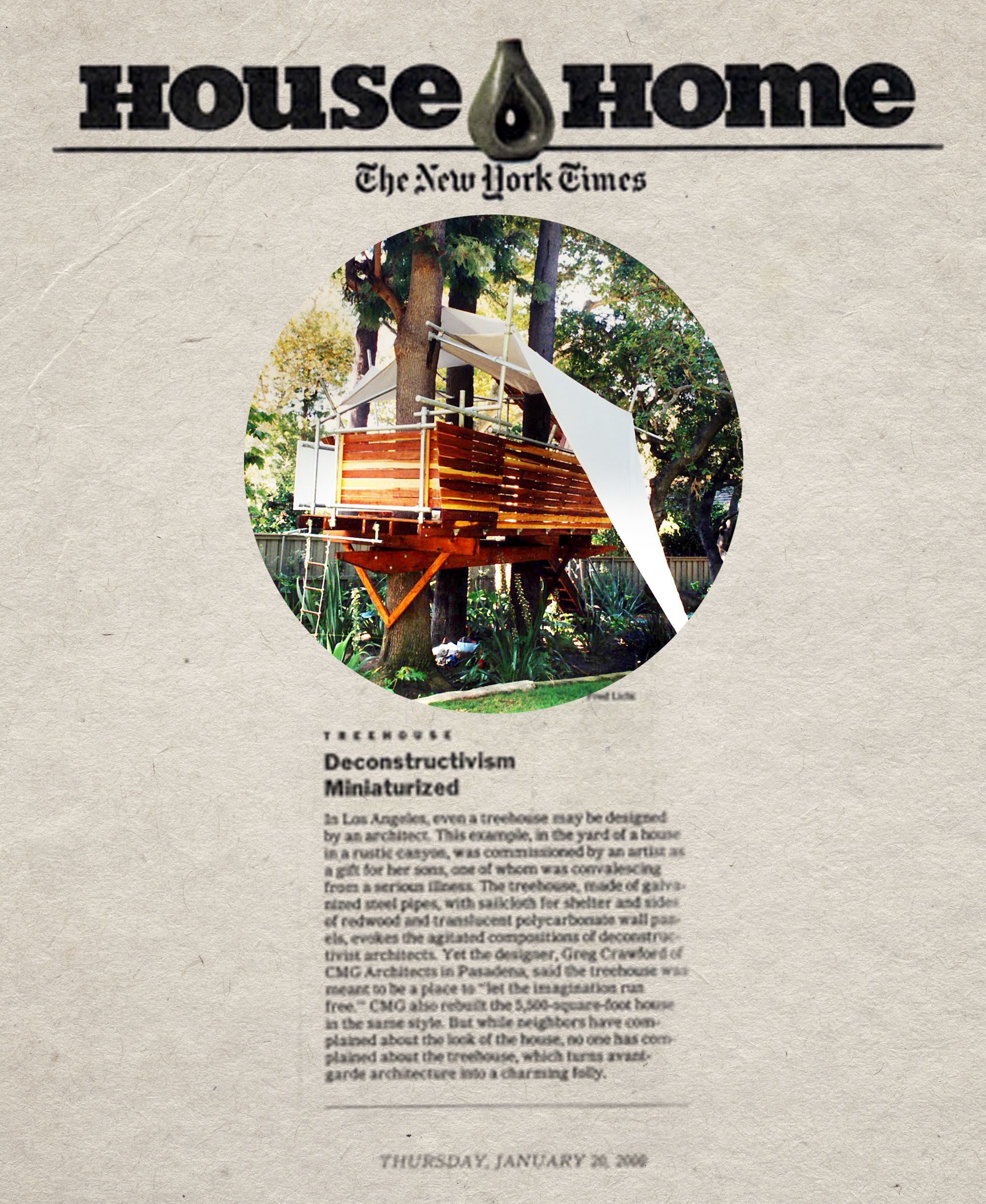 Deconstructivism Miniaturized - In Los Angeles, even a treehouse may be designed by an architect.