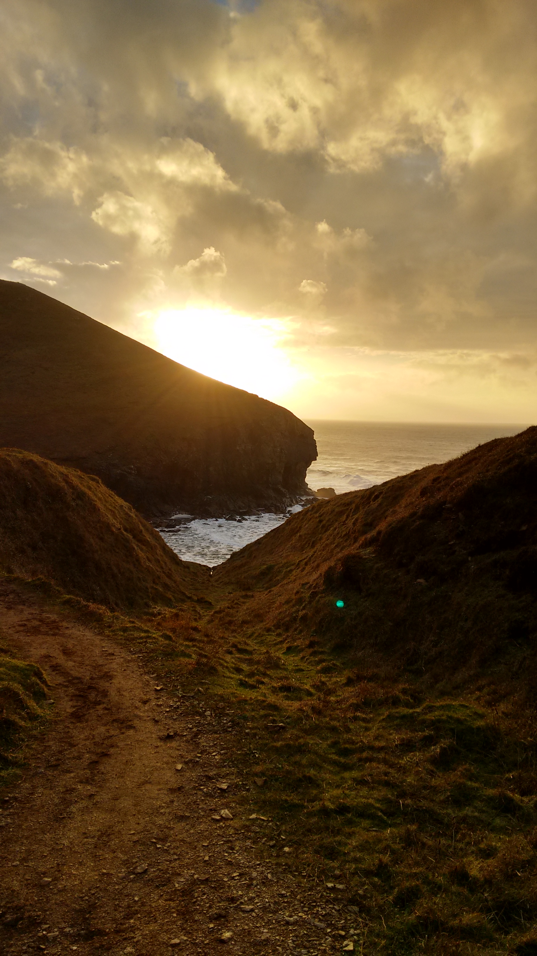 St Agnes Cornwall Hiking sunset