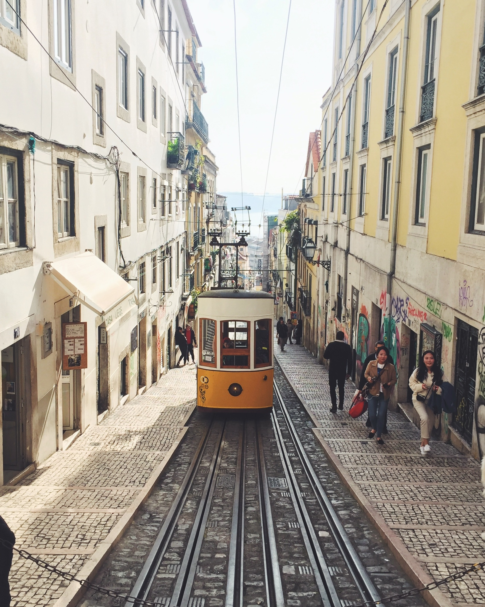 Lisbon Tram Portugal Yellow