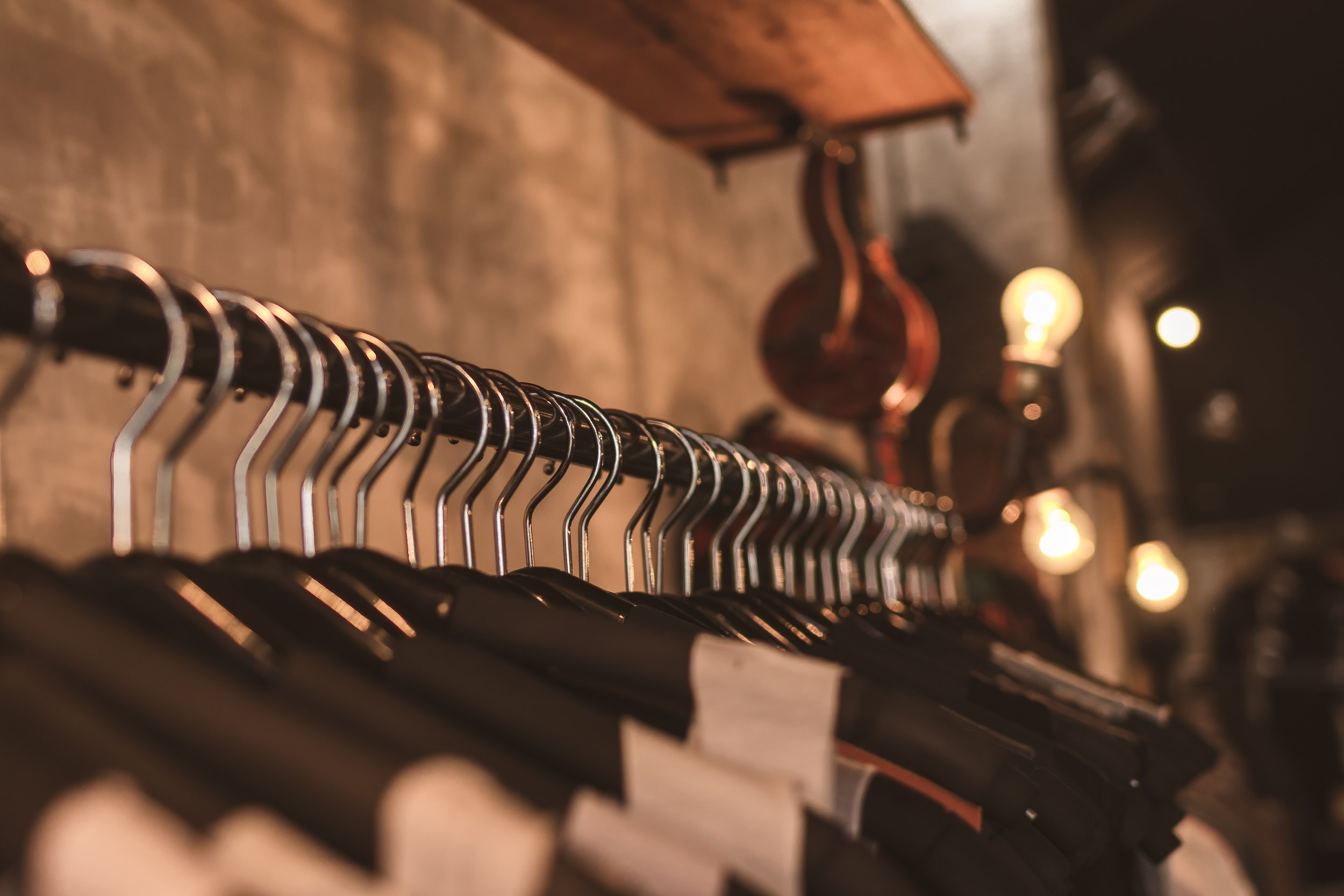 shopping clothing rail sustainable