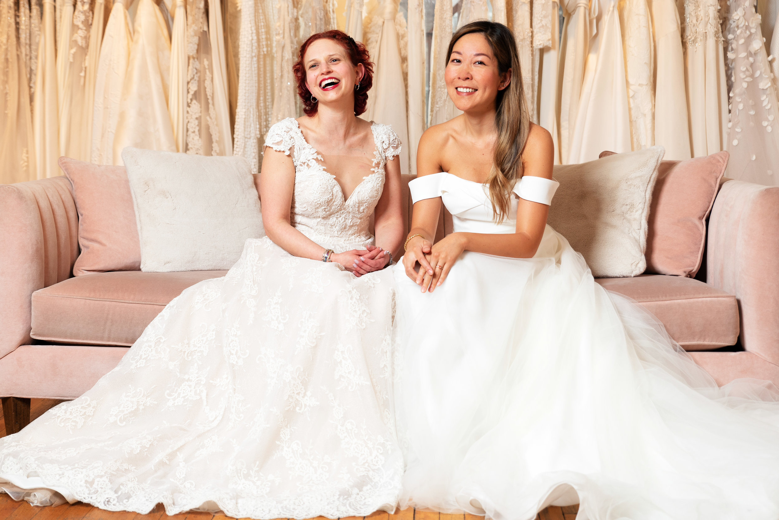 Young Survival Coalition partnered with wedding designer Kelly Faetanini and Gabriella New York Bridal Salon to donate wedding dresses to two breast cancer survivors for their upcoming weddings.