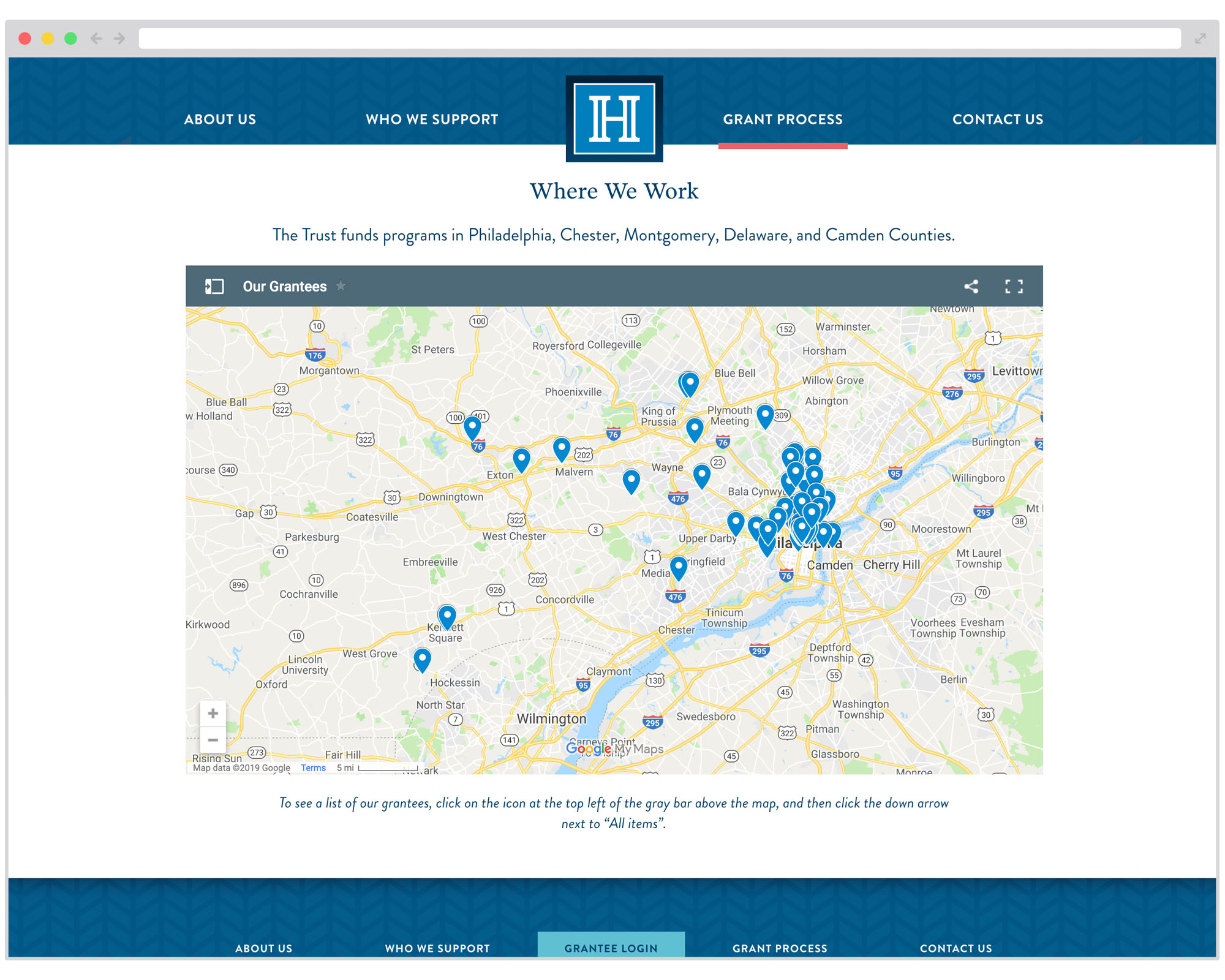 An interactive map of HFCT's grantees shows the reach of their grantmaking.