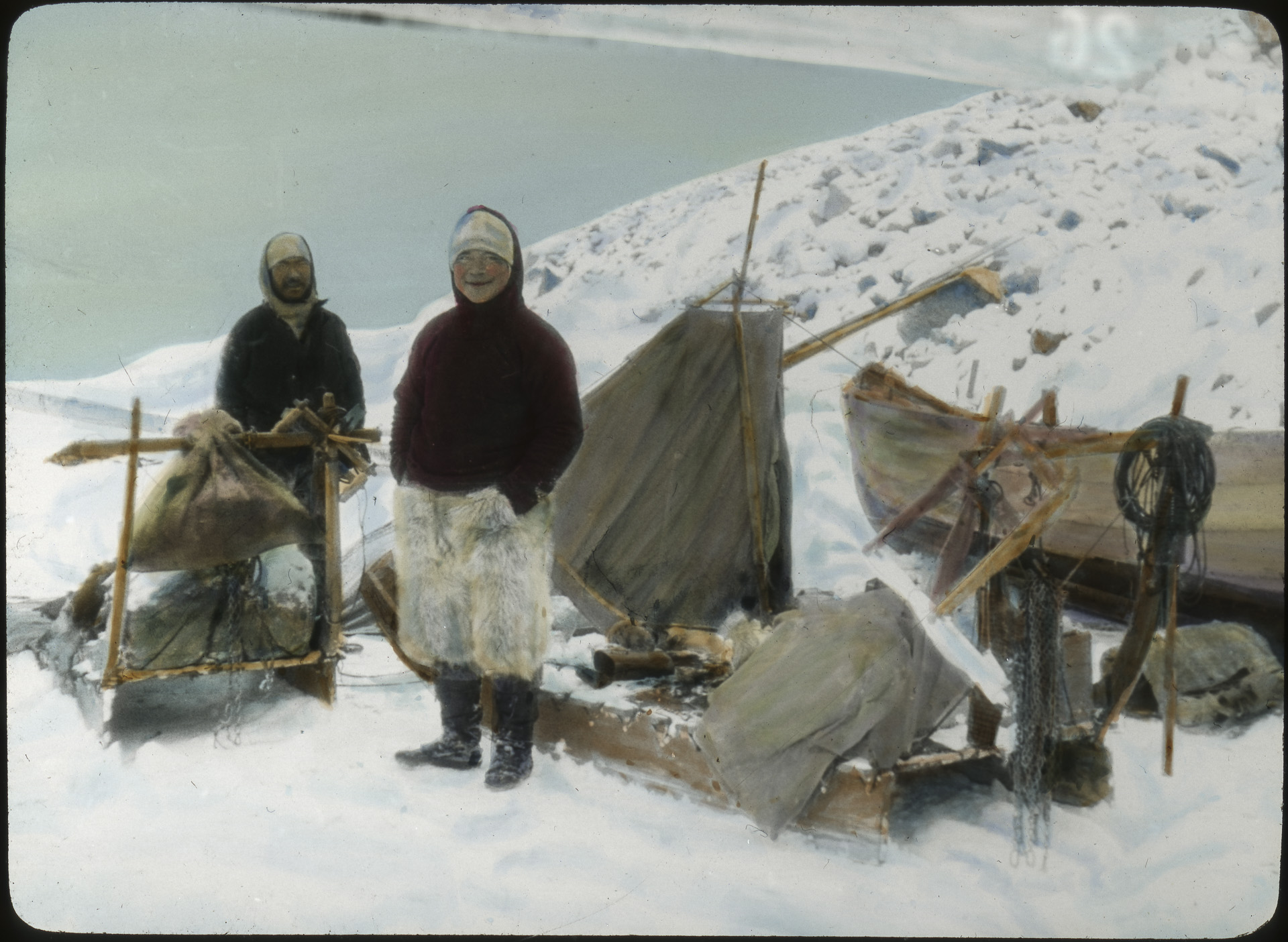 David and Martin with dog sledges