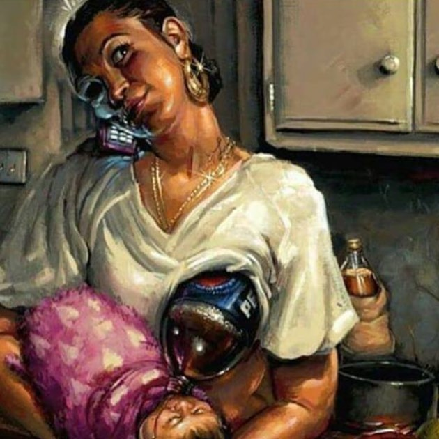 This image just terrifies me. It sends the message that mothers who don't have access to nutritious food or decided not to eat a wide array of nutrient-dense foods are poisoning their babies if they choose to breastfeed. This is entirely false, and it's a dangerous message. *Your* breastmilk is still the perfect food for *your* baby. Do we advocate for a healthy diet, complete with lots of fruits, veggies, and whole grains? Absolutely. But limited access to these foods doesn't undo or minimize the effects of breastmilk on mom and baby! DM me with questions or for more info. 💗 • • • • #breastfeeding #momsofig #motherhoodunplugged #motherhoodrising #newmom #breastfeed #breastfeedwithoutfear #imakemilk