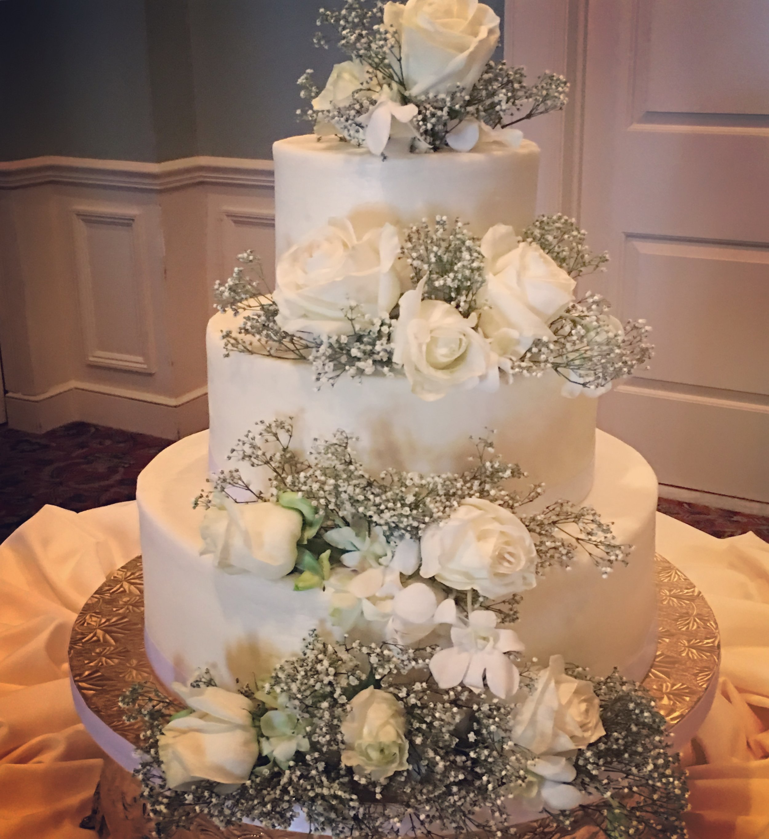 All Buttercream Wedding Cake -