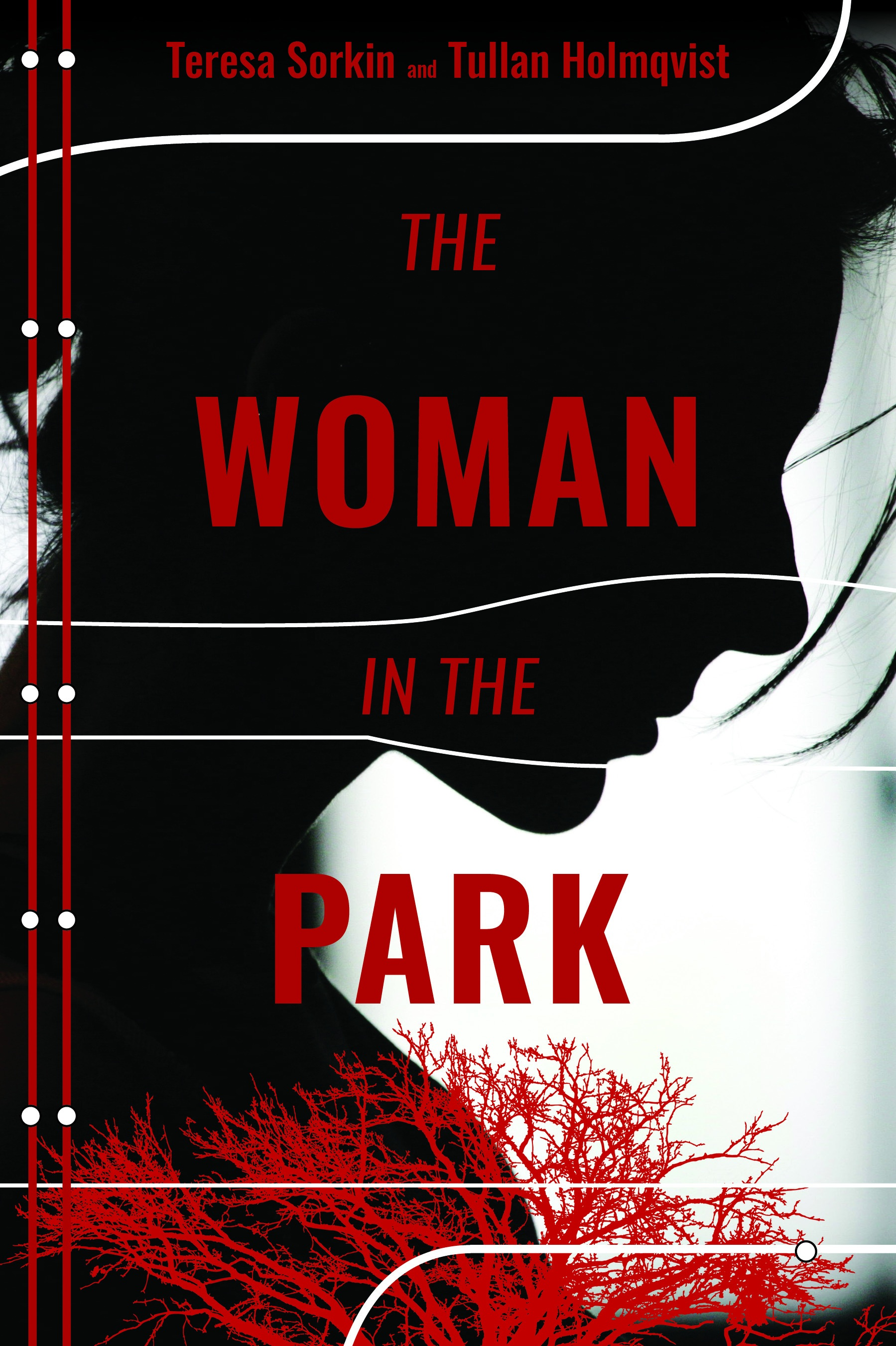 THE WOMAN IN THE PARK - by Tullan Holmqvist and Teresa SorkinWhen Manhattanite Sarah Rock meets a mysterious and handsome stranger in the park, she is drawn to him. Sarah wants to get away from her daily routine, her cheating husband and his crazy mistress, her frequent sessions with her heartless therapist, and her moody children.But nothing is as it seems. Her life begins to unravel when a woman from the park goes missing and Sarah becomes the prime suspect in the woman's disappearance. Her lover is nowhere to be found, her husband is suspicious of her, and her therapist is talking to the police.With no one to trust, Sarah must face her inner demons and uncover the truth to prove her innocence.A thriller that questions what is real-with its shocking twists, secrets, and lies―The Woman in the Park will leave readers breathless.