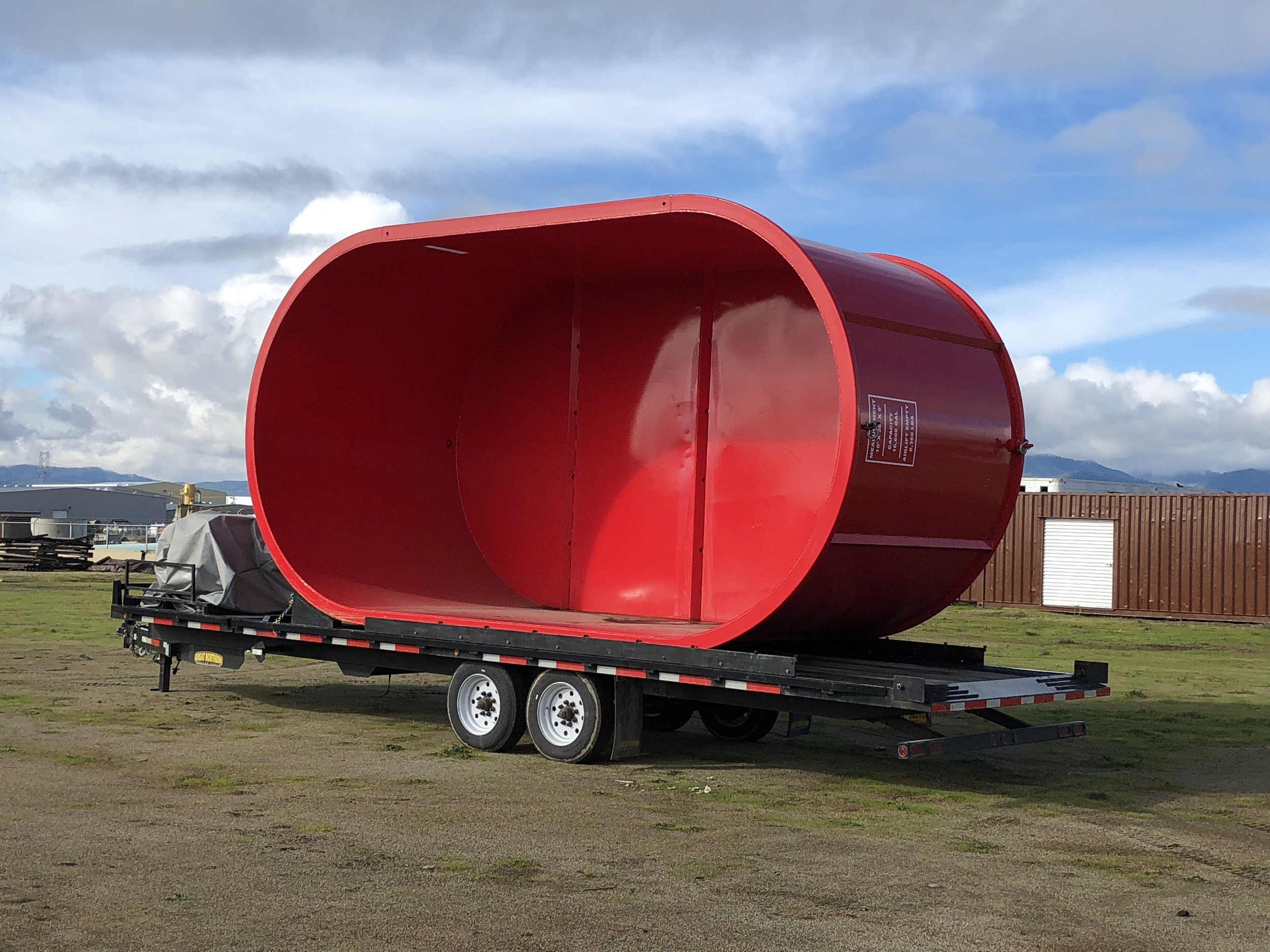 11,000-gallon helicopter dip tank