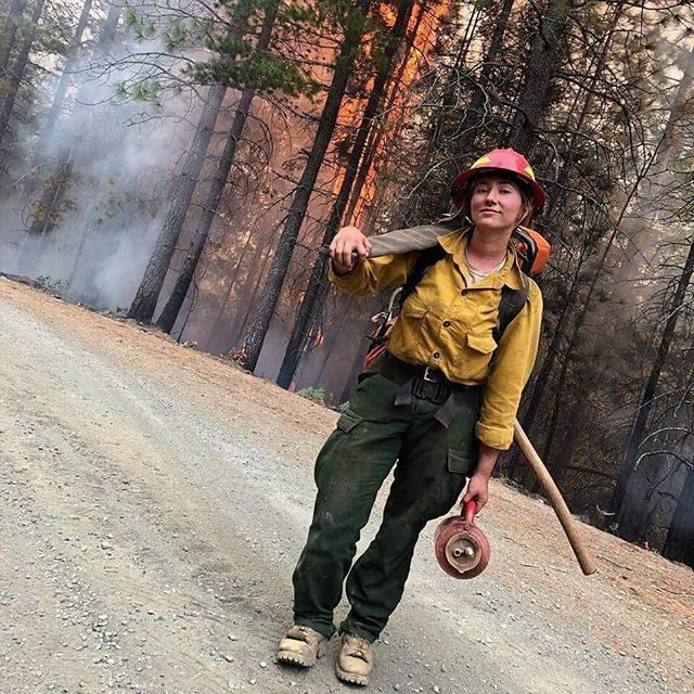 """A girl should be two things -- who and what she wants."" - Coco Chanel  #wildlandfirefighter #womeninwildfire #womeninfire #wildlandfire"
