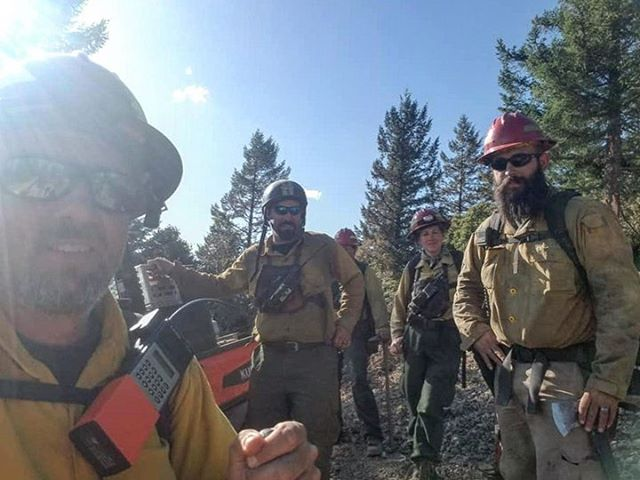 """The lines have held and Grayback crews finished up their work on the MP 97 Fire a few days ago. This fire was very challenging in steep rough terrain... In an old fire scar. It burned from the bottom canyons up to the ridge tops. We had to do some backfiring and used air assets along with drones to keep eye on things and to help ignite the backfire. This work helped with night operations to secure the fire. Sometimes there is no other way other than to backfire and burn out. We cannot risk putting firefighters going downhill with no roads or access. """"Keeping it on the ground"""" #milepost97fire #wildlandfirefighters"""