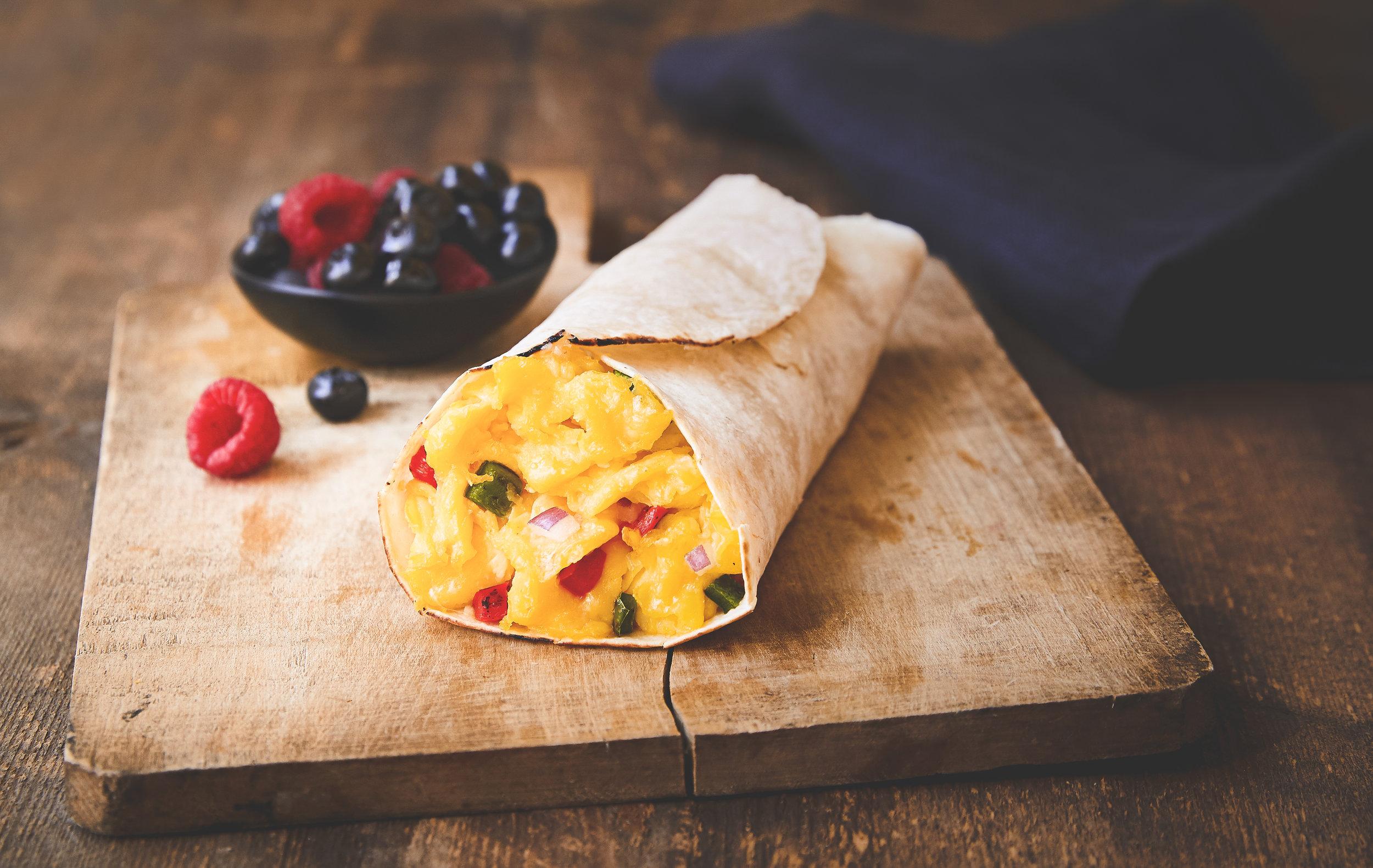 scrambled egg wrap