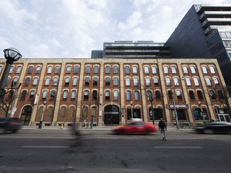 king west brick building exterior